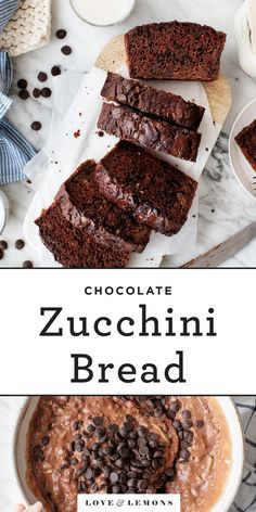 This moist, fudgy chocolate zucchini bread recipe is the BEST summer treat! With part whole wheat flour & lots of zucchini, it's easy, delicious & healthy! Healthy Chocolate Zucchini Bread, Zucchini Bread Recipes, Zucchini Cake, Summer Pasta Recipes, Healthy Baking, Healthy Snacks, Healthy Chef, Vegan Baking, Chocolate Flavors