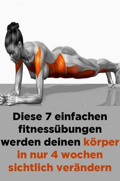 Health Discover These 7 simple fitness exercises will make your body visible in just 4 weeks. - These 7 simple fitness exercises will visibly change your body in just 4 weeks - Fitness Workouts, Fitness Motivation, Hip Workout, Easy Workouts, Easy Fitness, Wellness Fitness, Health Fitness, Transformation Fitness, Fitness Inspiration