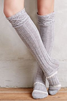 Cabled Over-the-Knee Boot Socks. These look so cozy!