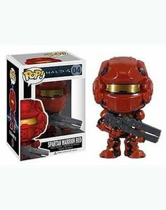 """Funko POP Halo 4 Spartan Warrior Red Vinyl Figure by Funko. $6.89. About 3 3/4"""" tall vinyl figure. Comes in a displayable window box. Rotatable head. From the hit Halo 4 video game. From the hit Halo 4 video game comes the Red Spartans! Each Pop! Vinyl figure stands 3 3/4-inches tall. Who better than a super soldier from Halo 4 to keep guard over your desk valuables? Get your Halo 4 Red Spartan Pop! Vinyl Figure today!"""