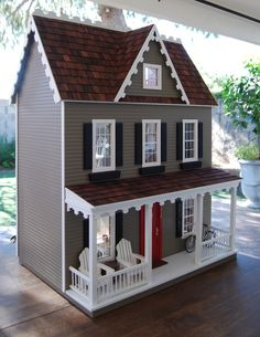 Special Edition Vermont Farmhouse Jr. Dollhouse by laneybugandco