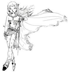 Final Fantasy VI - Terra Concept Art - Yoshitaka Amano