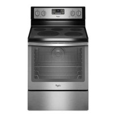 Whirlpool 6.4 cu. ft. Electric Range with Self-Cleaning Convection Oven in Stainless Steel - WFE540H0ES - The Home Depot