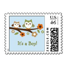 Baby Owl Personalized Postage Stamps