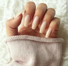 Cool long nude acrylic gel nails natural...