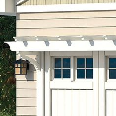 split level + carriage style garage door + cedar - Google Search