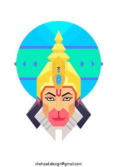 Fun flat designs I did for a T-shirt Company Indian Illustration, Illustration Story, Indian Sword, Krishna Drawing, Yin Yang Art, Cubist Art, Shiva Hindu, Lord Shiva Hd Wallpaper, Jai Hanuman