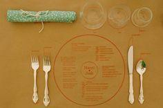 table/menu idea