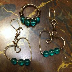 antiqued ring and earrings