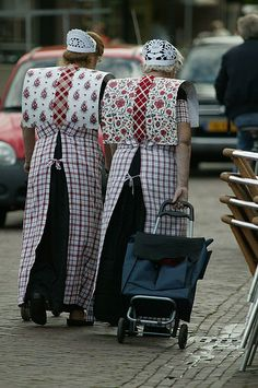 Bunschoten-Spakenburg, traditional costume, still worm daily by the older generation.