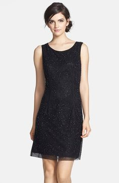 Xscape Bead Embellished Shift Dress available at #Nordstrom
