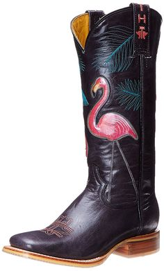 Tin Haul Shoes Women's Flamingo Western Boot ** Unbelievable outdoor item right here! : Work boots