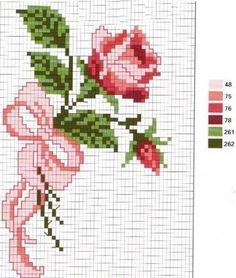 This Pin was discovered by Şen Cross Stitch Rose, Cross Stitch Baby, Cross Stitch Flowers, Cross Stitch Charts, Cross Stitch Designs, Cross Stitch Patterns, Christmas Embroidery Patterns, Hand Embroidery Patterns, Beading Patterns