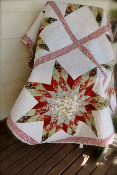Starlight Express - Jelly Roll Christmas Quilt | Flickr - Photo Sharing!