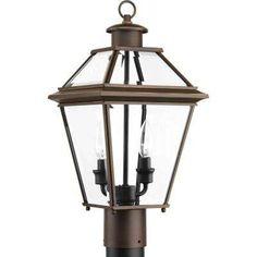 Burlington Collection 2 -Light Outdoor Antique Bronze Post Light