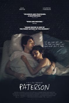 Paterson Blu-ray Paterson (Adam Driver) is a bus driver in the city of Paterson, New Jersey - they share the name. Every day, Paterson adheres to a simple routine: he drives his daily route, observing the city as it drifts across his Streaming Movies, Hd Movies, Movies To Watch, Movies Online, Movies And Tv Shows, Movie Tv, Hd Streaming, 2016 Movies, Movie Trivia