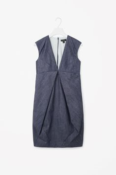 Draped denim dress