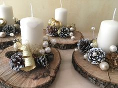 100 DIY Christmas centerpieces for tables and decorating ideas – ethinify – christmas decorations Elegant Christmas Centerpieces, Christmas Candle Decorations, Christmas Table Settings, Diy Centerpieces, Small Christmas Trees, Rustic Christmas, Christmas Wreaths, Christmas Crafts, Christmas Ornaments