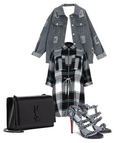 rock your look by hellodielilly on Polyvore featuring polyvore fashion style River Island Yves Saint Laurent clothing
