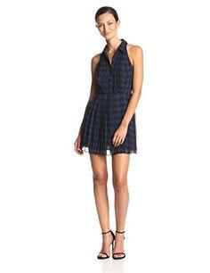 BCBGeneration Women's Pleat Skirt Dress, Deep Blue Combo…
