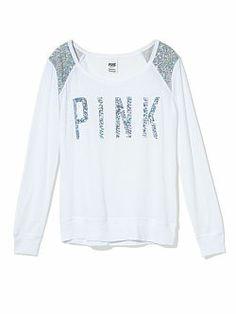 Bling Shrunken Long Sleeve Tee - PINK - Victoria's Secret
