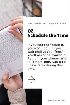 Technique #2: Dedicate a time and let others know you'll be unavailable. Are you a busy woman that has a hard time figuring out how to make studying the Bible a habit? Here are 5 ways that can help you discipline your mind and body to reading more Scripture! #MercyCreates #Biblejournaling #Bible #Biblestudy #Scripture #Christianblog #Christian #Christianblogger New Testament Books, Short Passage, Encouraging Verses, Sword Of The Spirit, Train Your Mind, Brain Breaks, My Bible, 5 Ways, Studying
