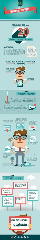 ¡Aprende a ser mucho más feliz! #infografia #infographic