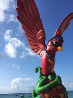 Public art helps make Cozumel so special. Island of the Swallows.