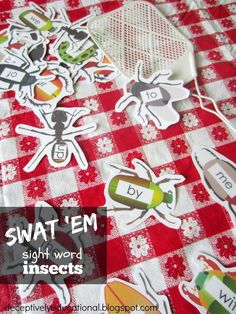 Relentlessly Fun, Deceptively Educational: Swat the Sight Word Insects {free printable}