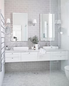 Who doesn't want to have stunning design of the master bathroom? The stunning design can be done not only in a spacious master bathroom but also in a small bathroom. You don't… Continue Reading → Ensuite Bathrooms, Bathroom Renos, Grey Bathrooms, Bathroom Flooring, Bathroom Interior, Bathroom Ideas, Bathroom Marble, Kitchen Interior, Neutral Bathroom