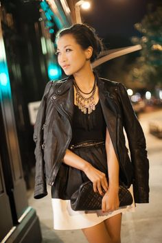 Night Out :: Soft leather & Statement necklace : Wendy's Lookbook