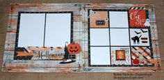 "Capture your favorite Halloween ghosts and goblins this season with this two-page layout kit using the Simple Stories ""Happy Haunting"" collection. This kit includes full color instructions and the fol"