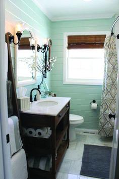 Pretty shiplap behind bathroom mirror exclusive on home decor gallery