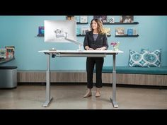 FlexTable Height Adjustable Sit Stand Desk | MultiTable  $419 for top that's 24 x 48;