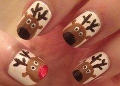 diseño uñas Navidad nails