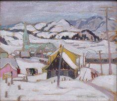 Albert H. Robinson - Saint Urbain near La Malbaie x 13 Oil on panel Malbaie, Saint, Oil, Landscape, Artist, Painting, Urban, Painting Art, Landscape Paintings