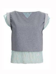 sweat / lace top