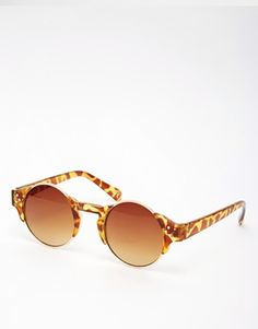 ASOS Round Sunglasses With Corner Detail