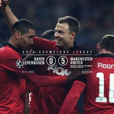 Manchester United dominated Bayer Leverkusen in Champions league match.