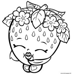 Shopkins Strawberry Coloring Pages Printable And Book To Print For Free Find More Online Kids Adults Of
