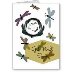 Get Well Soon Dragonflies card