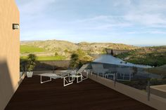 Vista 3D exterior desde la terraza en planta alta de la villa tipo de 2 plants.   #3d #architecture3d #artlantis #Archicad #model3d #design3d #render #rendering #3dmodel #3ddesign #renderings #Photoshop