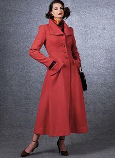 V1669   Misses' Outerwear   Vogue Patterns Coat Pattern Sewing, Coat Patterns, Vintage Sewing Patterns, Dress Patterns, Vogue Patterns, Vintage Vogue, Hair Canvas, Vintage Coat, Outerwear Women