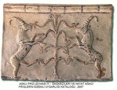 PHRYGIAN PANEL CLOSELY FALLOWING THE SUMERIAN TREE OF LIFE/ SACRED TREE  C.600BC