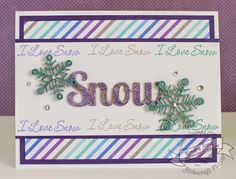 Luv 2 Scrap n' Make Cards, Non-Traditional Christmas Colors with SweetStamps.com, Christmas Card