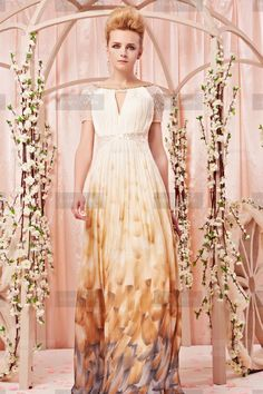 Pretty Jewel Long Multicolored Evening Dress | Fanny Crown