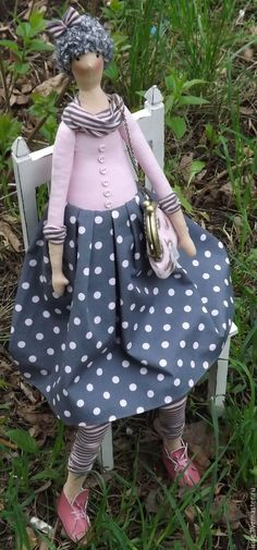 Купить Кукла-Тильда Горошек - кукла Тильда, интерьерная кукла, тильда, розовый, подарок