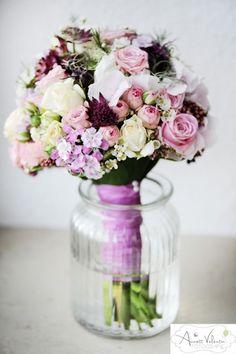 Milles Fleurs_ Brautstrauß_Strukturstrauß_Rosa-creme-weiß_ - 1