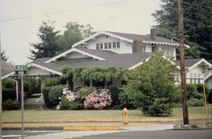 This is the Edward Schulmerich House located in Hillsboro, Oregon. Edward Schulmerich was a senator.  The style of this home is called the American Craftsman Bungalow.  It was  added to the National Register of Historic Places in 1991. It still retains the original linoleum in the kitchen and also its built in cabinets. Craftsman Style Bungalow, Bungalow Homes, Cottage Style Homes, Craftsman Bungalows, Hillsboro Oregon, American Craftsman, Built In Cabinets, The Expanse, Great Places