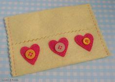 Lemon and Pink  felt Tissue Holder by Linen & Roses on Etsy